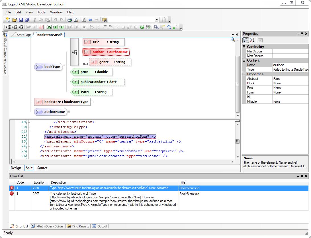 Xml Schema Editor Xsd Editor