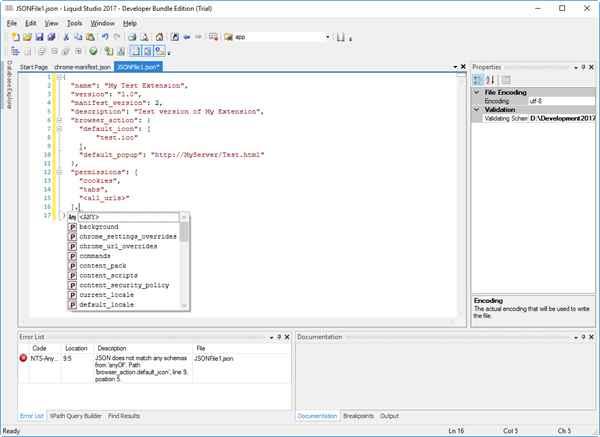 feature details json editor