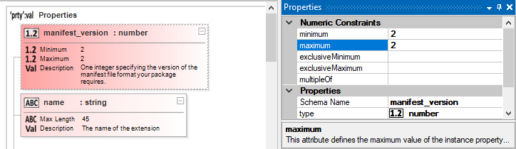 Editing JSON Schema properties in the property grid