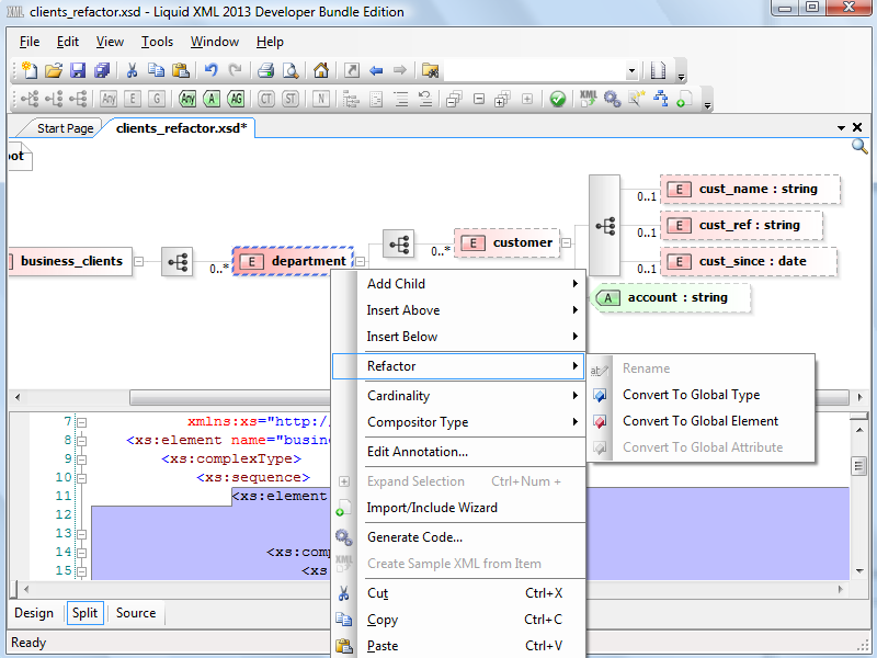 how to create xsd from xml