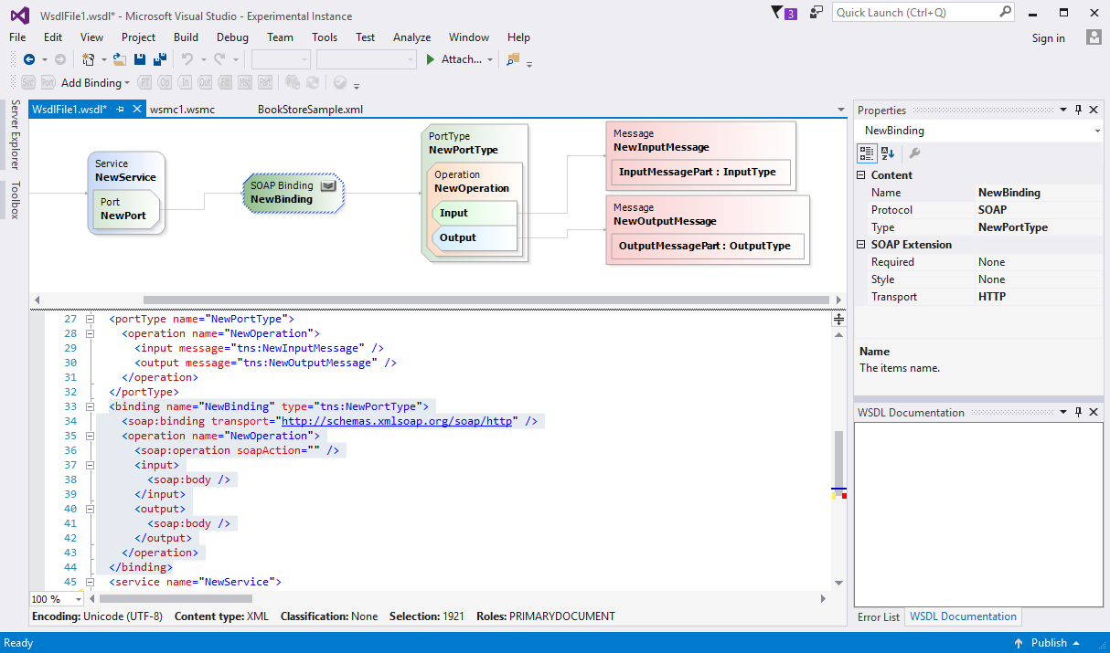 WSDL Editor for Visual Studio