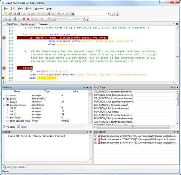 XQuery Editor and Debugger