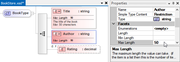 Editing XSD properties in the property grid