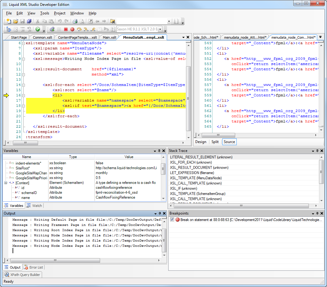 Xslt editor and debugger the xslt editor and debugger simplifies the process of authoring xslt style sheets cutting development time while improving quality and reliability baditri Choice Image