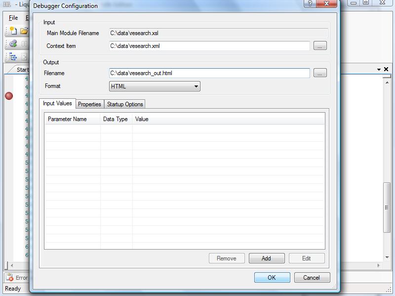 XSLT Editor and Debugger