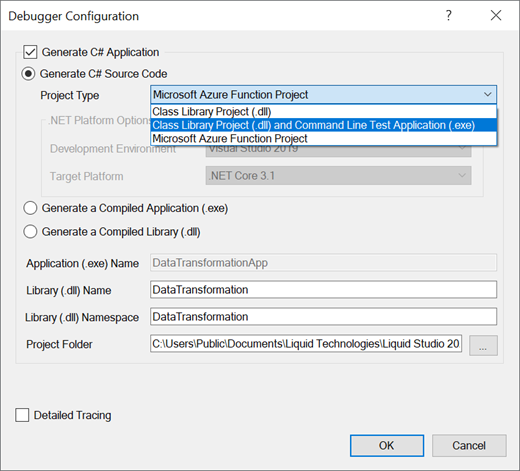 Liquid XML Studio DataMapper Debugger Options C - Data mapper c