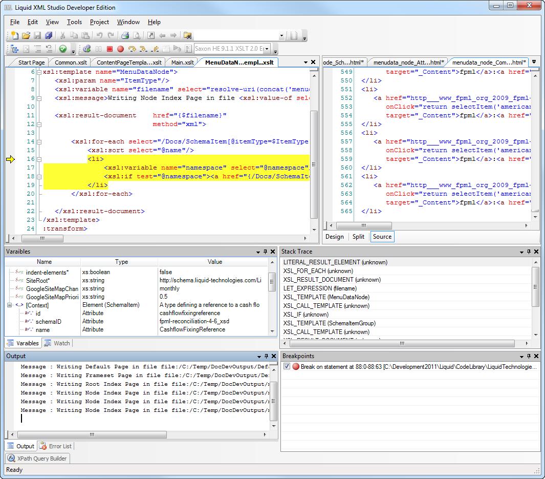 Liquid xml studio xslt debugger overview microsoft xslt 10 engine maxwellsz