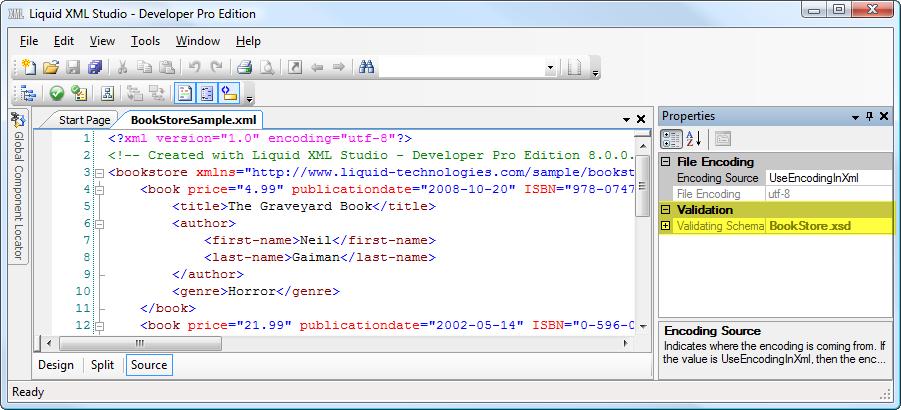 Validating xml file against schema c# array